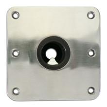 """Spring-Lock Locking Floor Base 7"""" X 7"""" S/S Passivated"""