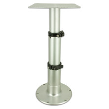 "Three Stage Table Pedestal (Silver)  14""-28"""