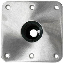 "Spring-Lock 7"" X 7"" Floor Base S/S Satin"