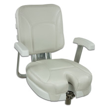 Ladder Back Chair with Gimbal off White