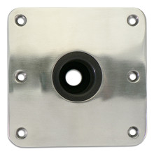 "Spring-Lock Floor Base 7"" X 7"" Stainless Steel"