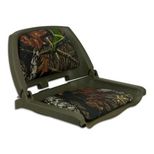 Traveler Fold Down Seat Green with Mossy Oak Break Up Cushions
