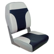 Fold Down Economy Coach HB Seat Gray & Blue