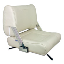Flip Back Seat Off White with Slide
