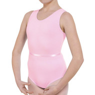 RUTH STEIN SCHOOL OF DANCE PINK TANK LEOTARD WITH BELT