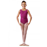 RUTH STEIN SCHOOL OF DANCE COTTON ROUCHE FRONT TANK LEOTARD