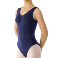 THE PERFORMANCE ACADEMY NAVY COTTON LYCRA TANK LEOTARD (T&P)