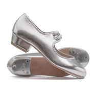 THE PERFORMANCE ACADEMY SILVER LOW HEEL PU TAP SHOES