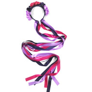 SUSAN ROBINSON FLORAL LONG RIBBON HEADBAND