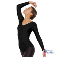 TAPPERS & POINTERS LEO 4 LONG SLEEVED RUCHED FRONT LEOTARD Ad