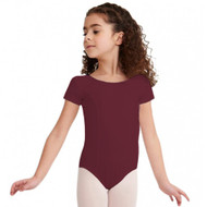 ARTS EDUCATION BURGUNDY CAP SLEEVED LEOTARD