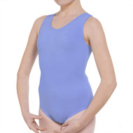 MSB SKY BLUE STD TANK LEOTARD WITH BELT