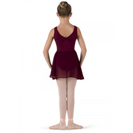 SONYA NICHOLS  'BARRE' BURGUNDY MOCK WRAP SKIRT