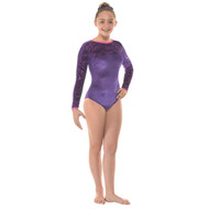 TAPPERS & POINTERS GYM/29 VELVET AND FOIL LEOTARD Jr