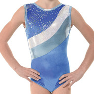 TAPPERS & POINTERS GYM/30 VELVET AND FOIL LEOTARD