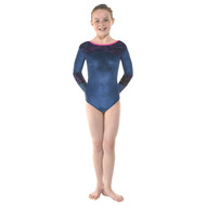 TAPPERS & POINTERS GYM/28 VELVET AND FOIL LEOTARD Jr