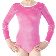 TAPPERS & POINTERS GYM/28 VELVET AND FOIL LEOTARD