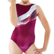 TAPPERS & POINTERS GYM/20 SMOOTH VELVET AND SOLARIS PRINT LEOTARD
