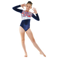 TAPPERS & POINTERS GYM/26 VELVET AND UNION FLAG PRINT LEOTARD Jr