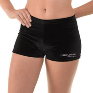 TERRI JAYNE BRANDED VELVET HOT PANTS