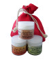 SheaBynature Natural face cream gift set of Argan No.2 Ancient Secret of Baobab 4 and Moringa No.1 Nourishing face care, day or night. 60ml each cream and full of natural oils and butters.
