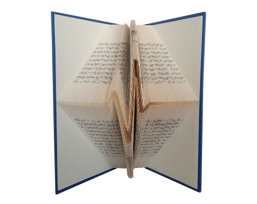 This folded book design shows a visual heartbeat