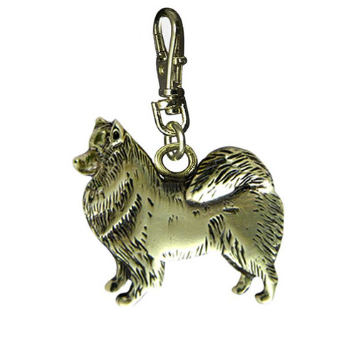 Samoyed Brass Zipper Pull