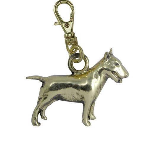 Bull Terrier Zipper Pull Brass