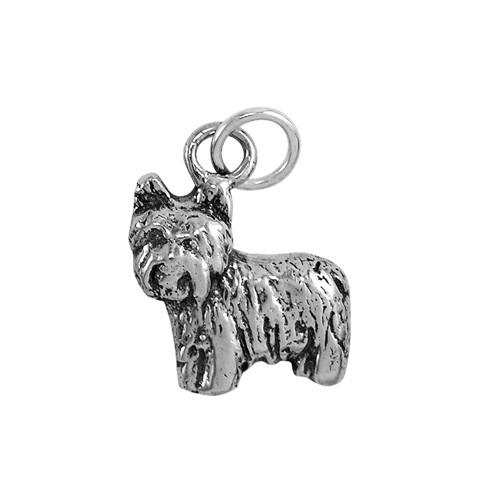 Yorkie Puppy Small Charm