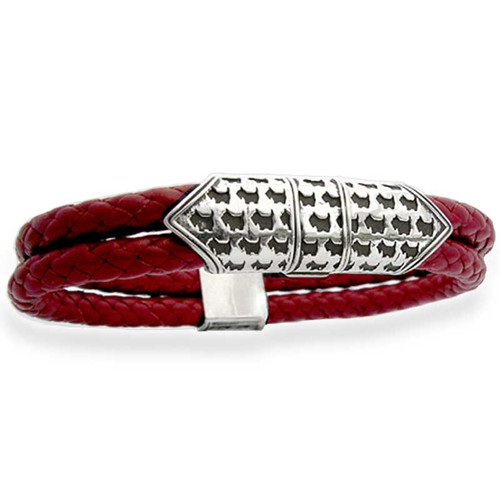 Scottie Clasp Braided Leather Bracelet