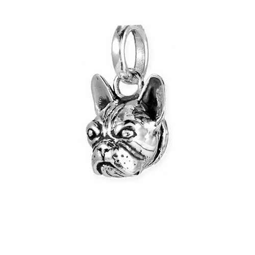 French Bull Dog Head Pendant