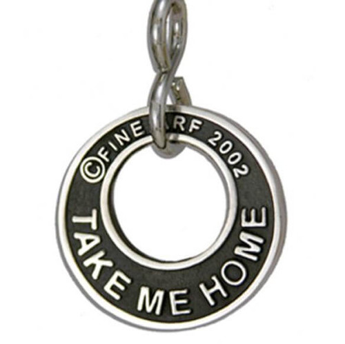 Take Me Home Tag Silver
