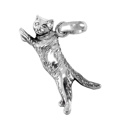 Flying Cat Large Charm