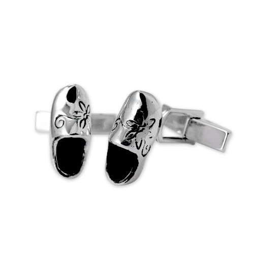 Dutch Wooden Shoes Cufflinks