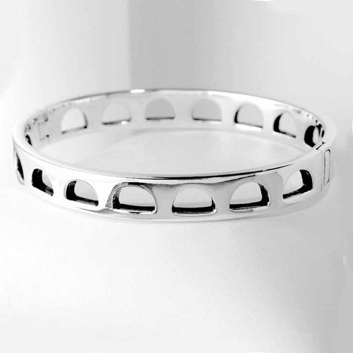 Bangle Arch Cut Bracelet in Sterling Silver