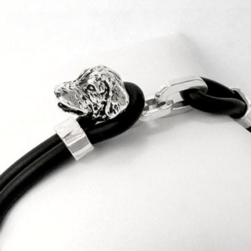 Golden Retriever Silver Rubber and Bracelet