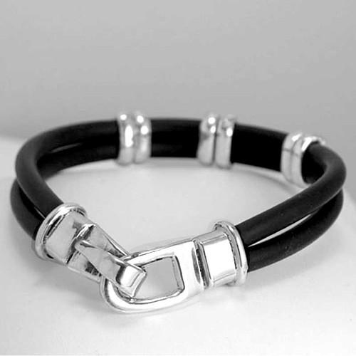 Hook Clasp Rubber Bracelet