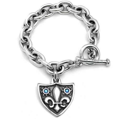 Smooth Link Silver Bracelet - Heavy