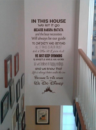 In This House, Disney Wall Art/Decal