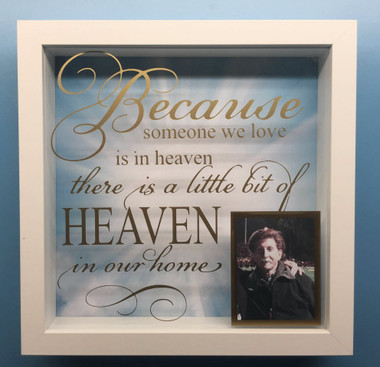 because someone we love is in heaven 3d shadow frame
