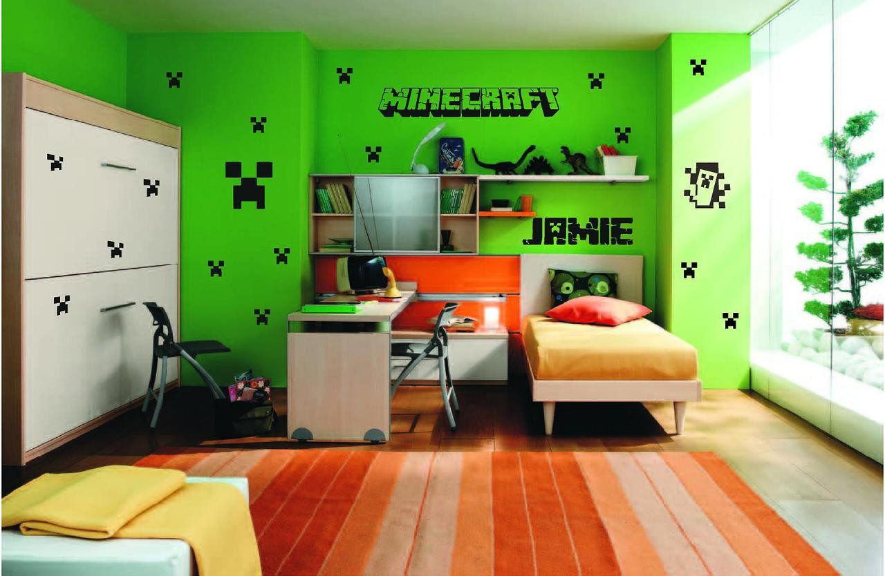 minecraft personalised wall art sticker