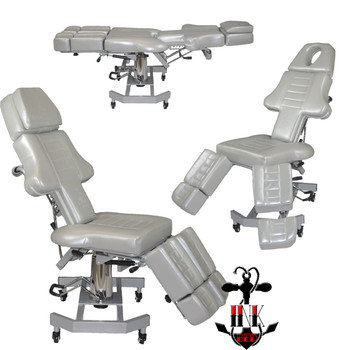 Brand New Model Gray InkBed™ Patented Fully Adjustable Tattoo Table & Bed
