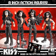 "KISS First Album 1973-Style Figures - 8"" (set of 4)"
