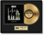KISS Gold Record - Dressed to Kill LP