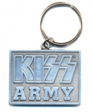 KISS Keychain - KISS Army Silver