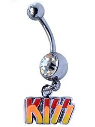 KISS Navel Ring - KISS Logo