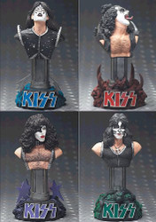 KISS Statuette Busts - set of 4, (8 /10 condition)