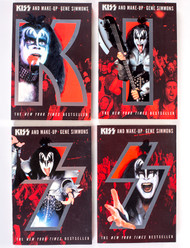 KISS and Make Up - Gene Simmons paperback matching set of 4