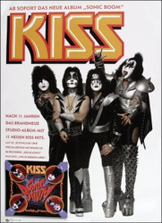 KISS German Sonic Boom Poster #2