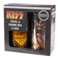 KISS Travel and Ceramic Mug 2-pack Gift Box